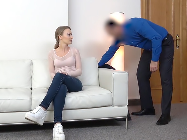 Office fuck for sexy British model