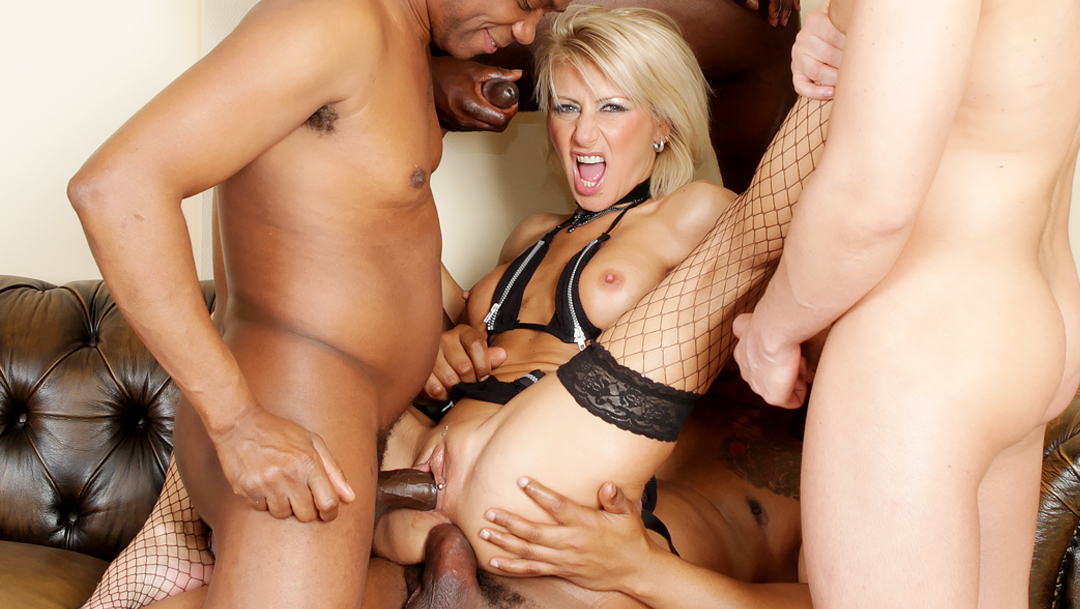 Interracial gangbang sex movies