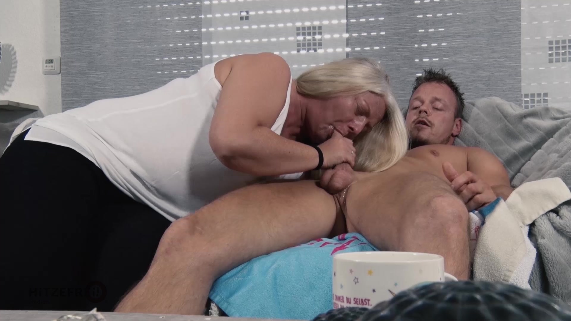 Wife fucks big balls