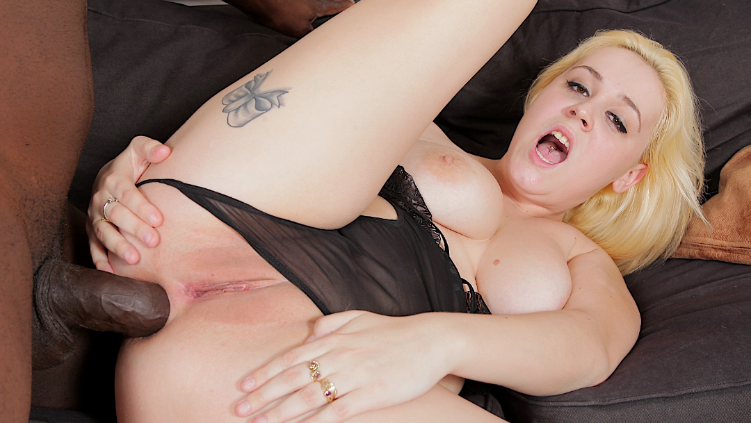 â–· Busty Blonde Babe Paris Sweet Shoves a Big Black Cock up ...