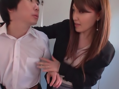 Alluring Asian milf gets her anal hole fucked in a toilet
