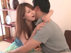 Slender Asian milf Akiho Yoshizawa sucks and gets pounded