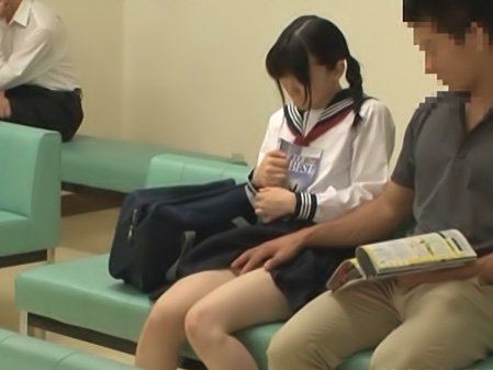 Naughty schoolgirl in hospital headfucking