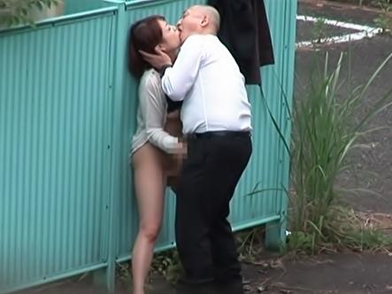 Shameless Asian couple fucking outdoor caught on voyeur cam