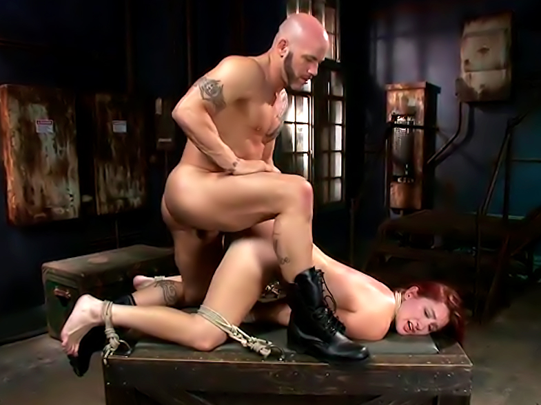 Newbie Gets Brutally Fucked In Tight Bondage