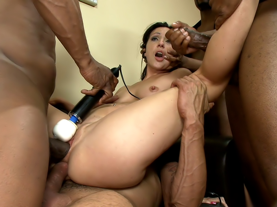 Wenona's first INTERRACIAL GANGBANG with CREAMPIE!