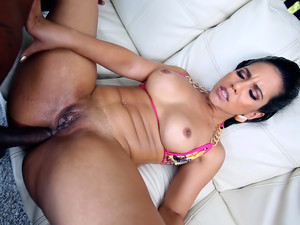 Thick Latina Tries Anal with A Big Black Dick!