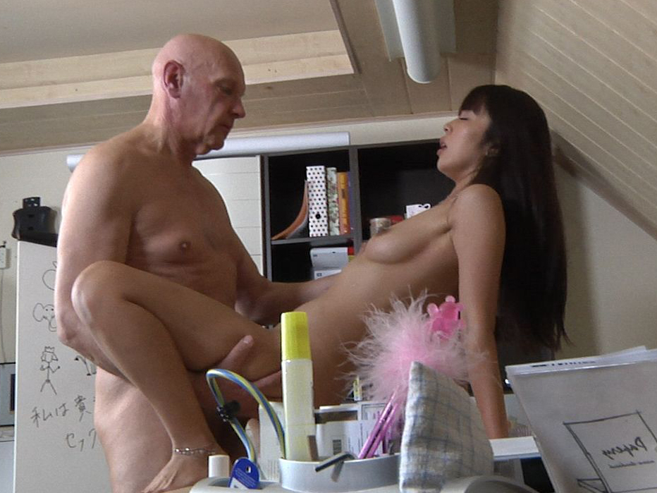 Old perv teacher fucking sexy Asian youngster in private lessons