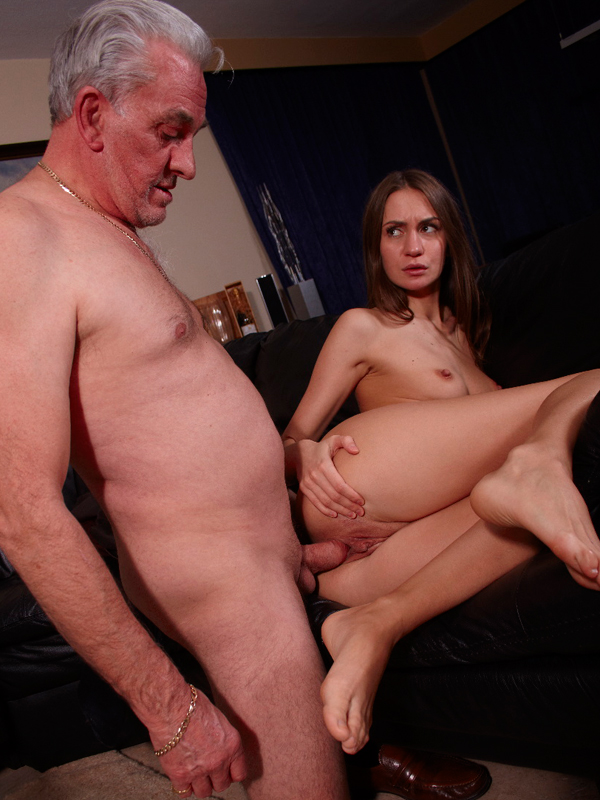 Old senior get to fuck his pal's 22 yo princess