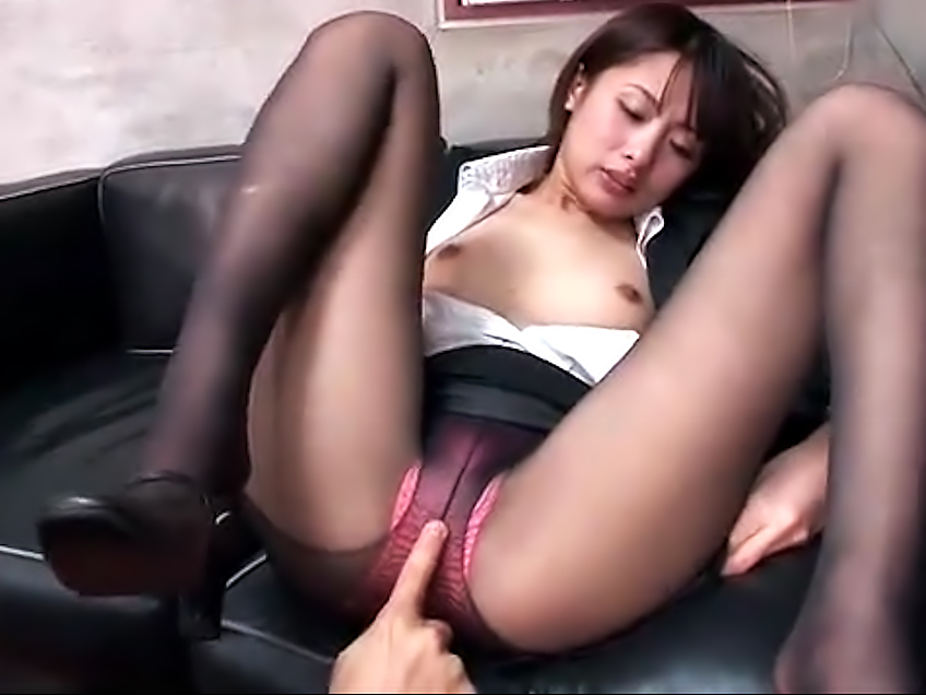 Sexy asian girl in stockings