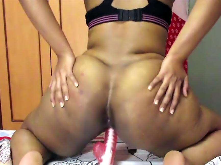 Busty Ass Riding A Dildo