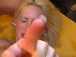 busty german in real gangbang orgy