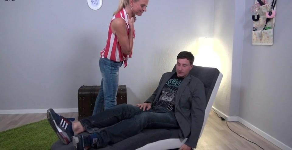 Super hot German housewife Dirty Tina fucking and sucking