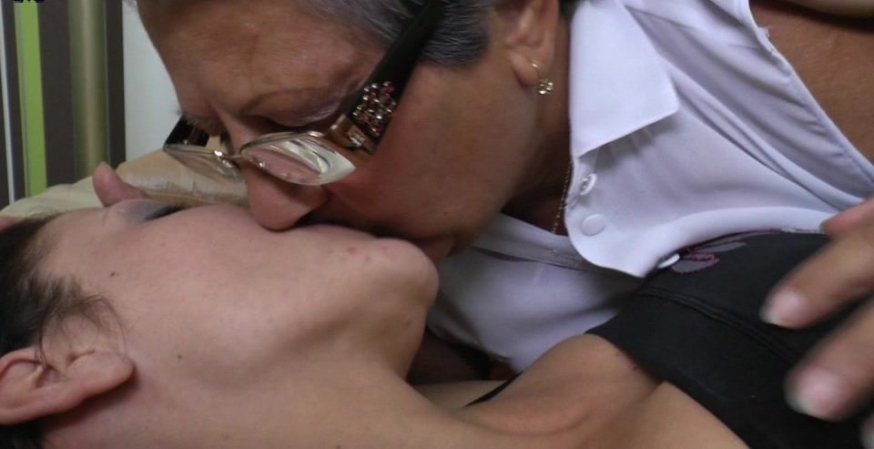 Hot old and young lesbians licking ass and eating pussy