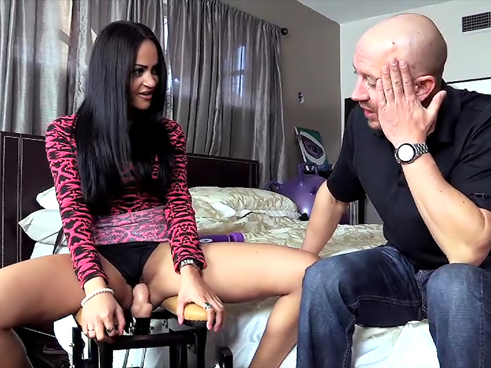 Dildo Ride While Watching Porn