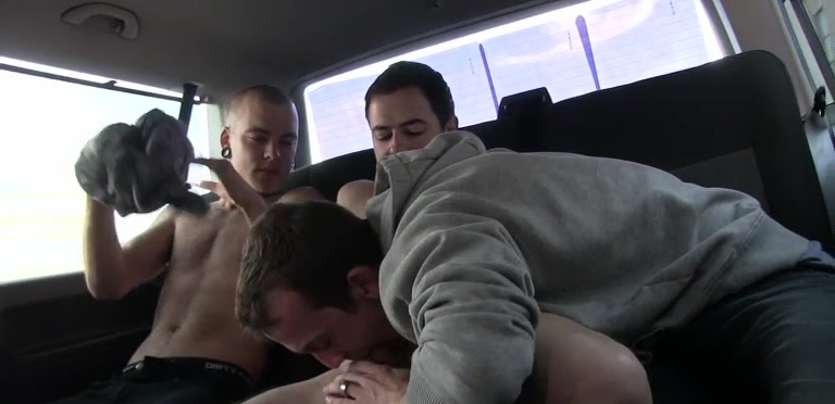 Hung Rugby Boy Used In The Back Seat - Jake Richards, Stephan Black And Dan Jenkins