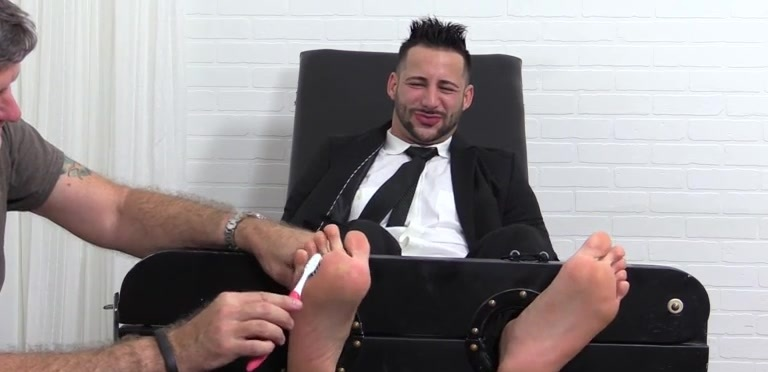 Burly Hunk Yoel Tied Up and Tickle Tortured - Yoel