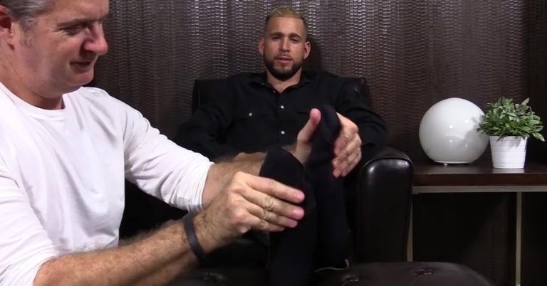 Bearded Stud Tino Gets Foot Worshiped - Tino