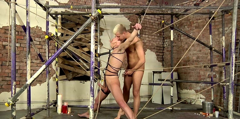 Caught In Deacon's Wanking Web - Reece Bentley And Deacon Hunter