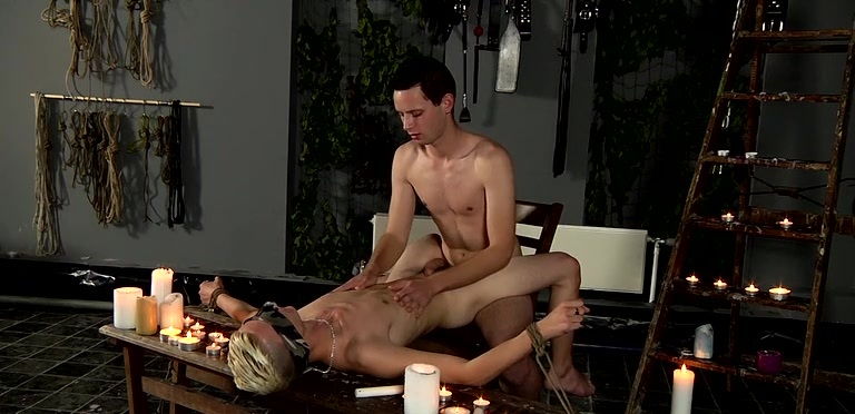 Splashed With Wax And Cum - Luca Finn And Aiden Jason