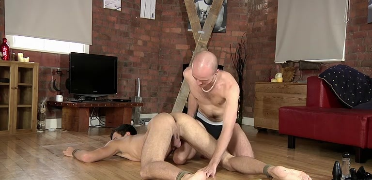 Lucas Davidson gets anally abused and pissed in! - Lucas Davidson And Kiron Knight