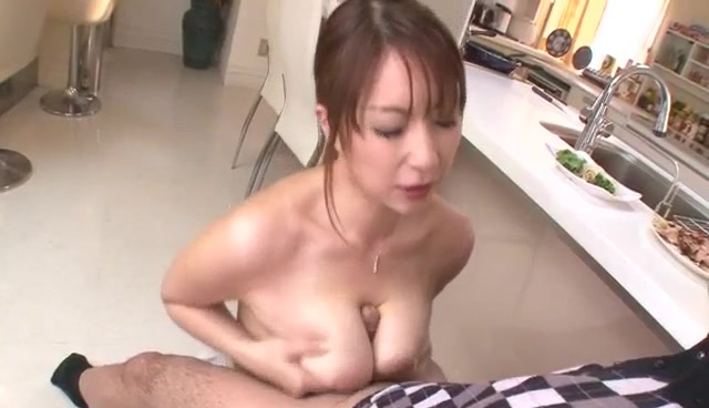 Nothing like a big dick to please cock sucking  Araki Hitomi