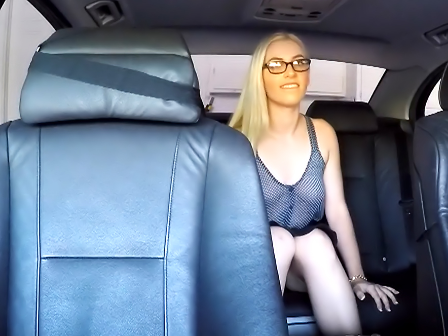 Blonde Cutie In Glasses Loves To Ride Her Mans Dick
