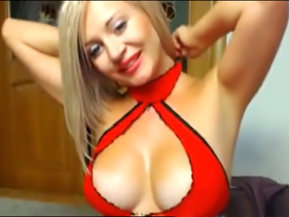 Blonde Webcam Hottie Toys Herself