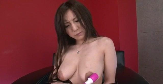 Big tits, Ayami, tries dildo up her tight pussy