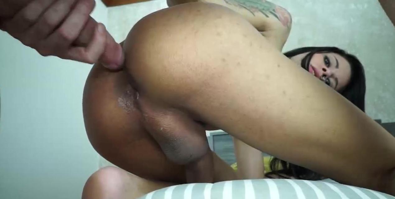Pierced Deepthroat And Cum Pissing TS Cock