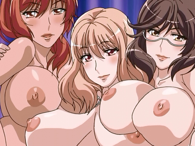 Three big titted hentai babes