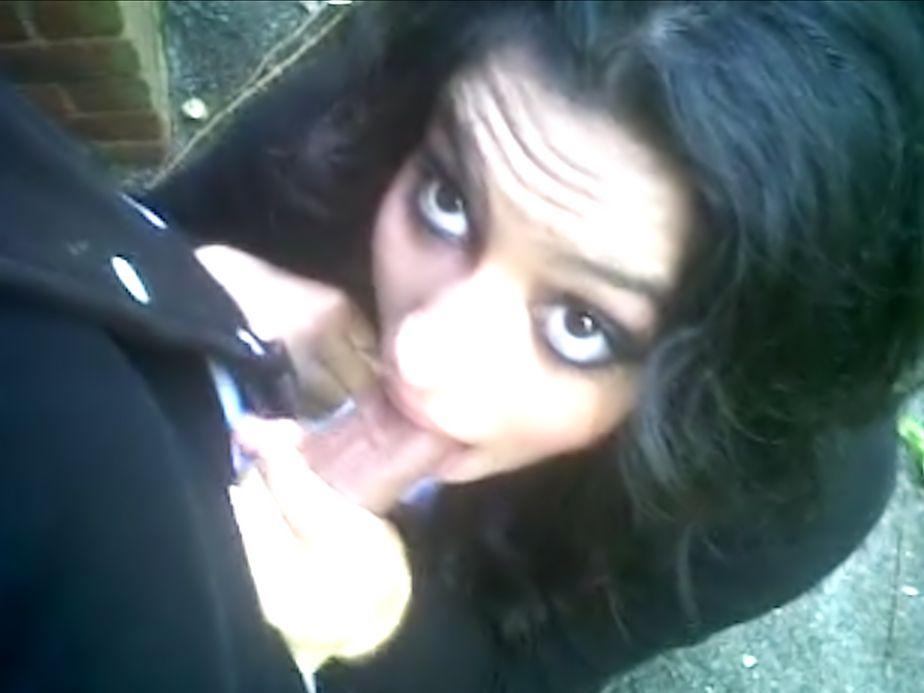 Kinky Indian couple public oral sex outside the office