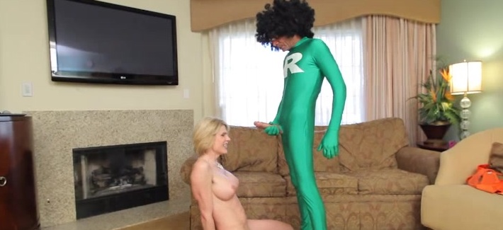 Watch Super Ramon tear that sweet tranny ass up on Delia DeLions!