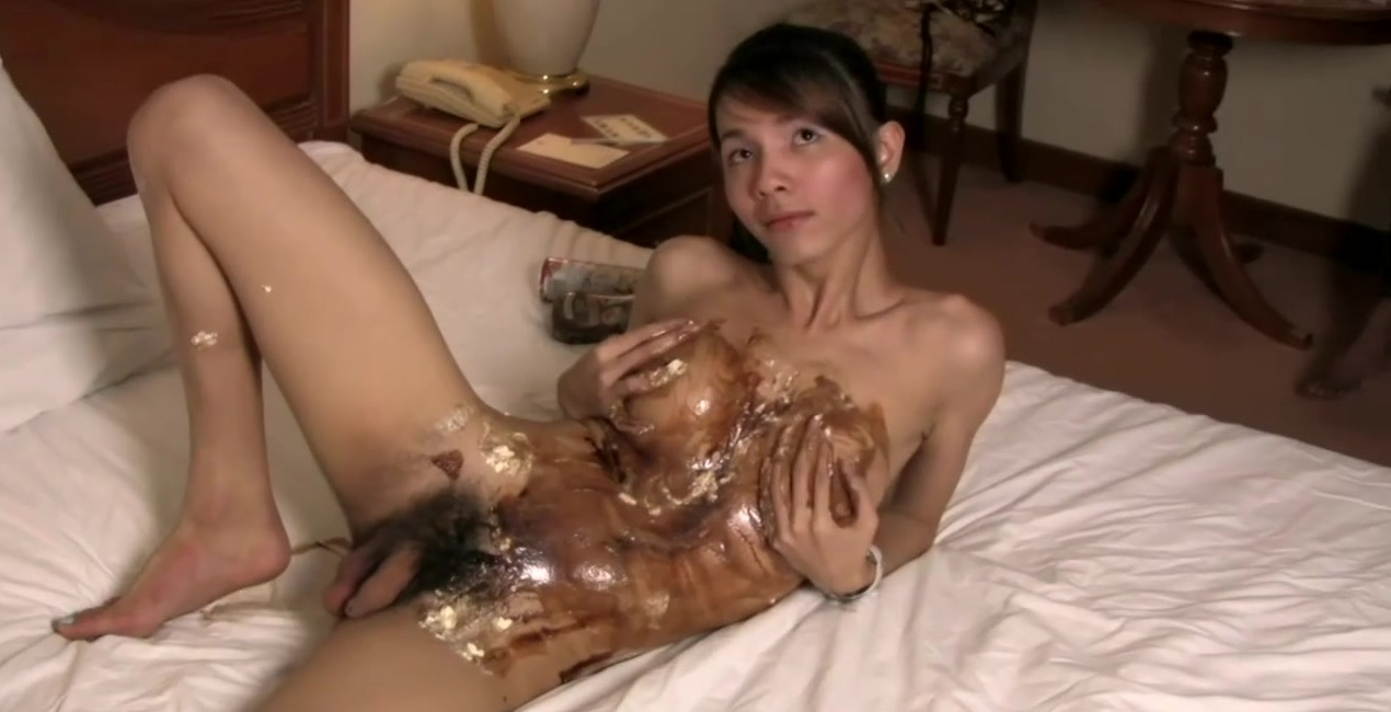 Feminine shemale plays with girl pole until huge jizz load