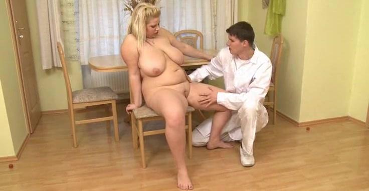 Hard dick from doctor fucks fatty