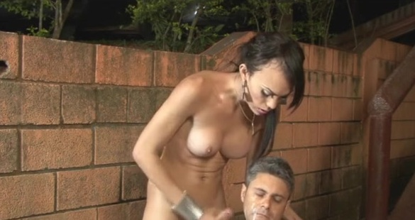 Isabela and Ricardo tranny and pussyguy in action