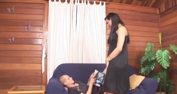 Bianca and Eduardo tranny fucks boy video