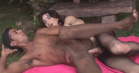 Adriana and Junior shemale fucking boy on video