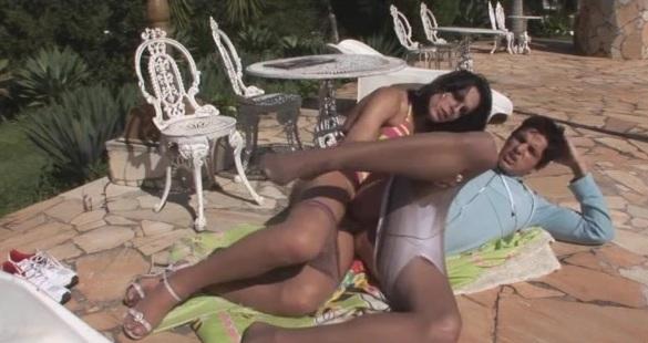 Viviane and Lucas shemale fucks boy action