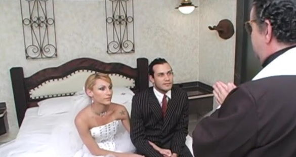 Milena horny shemale bride