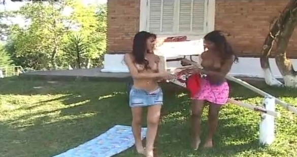 Rochele and Marcela cute trannies on video