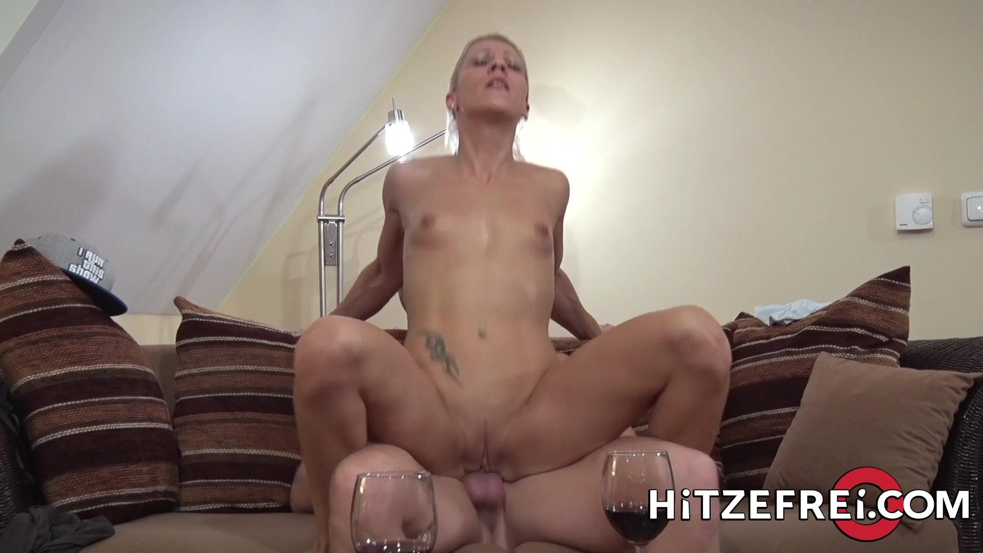 HITZEFREI Tight body German blonde gets her ass reamed
